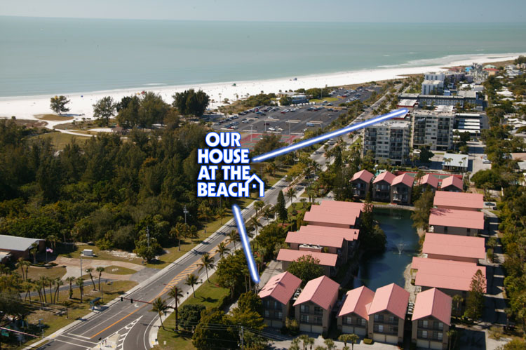 Aerial view of My House at the Beach condo